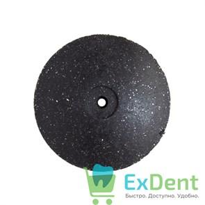 Диск силиконовый для пластмассы и металла, черный тонкий (22 мм)