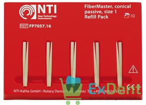 Штифты стекловолоконные FiberPosts №1 NTI желтый (D = 0.5 мм) (15 шт) с аксессуарами