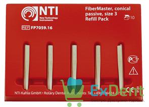 Штифты стекловолоконные FiberPosts №3 NTI синий (D = 1.1 мм) (10 шт)