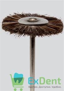 Щетка дисковая натуральная щетина, средняя, коричневая (22 мм)