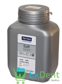 Vertex (Вертекс) Soft - порошок пластмасса для ремонта зубных протезов и для мягких прокладок, розов