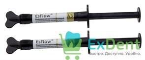 EsFlow (Есфлоу) A3 - жидкотекучий композит светового отверждения (2 х 2 г)