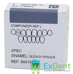 Componeer Ref. Upper L - Dentin Bleach Opaque - 13 - виниры на верхний ряд (2 шт)
