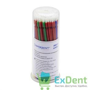 Аппликаторы Микробраш Dispodent кисточки разноцветные (100 шт)