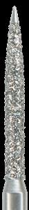 863SE-012M-FG Бор алмазный NTI, форма пламевидная, этравматичная, среднее зернор