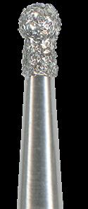 802-014F-FG Бор алмазный NTI, шаровидной формы (с воротничком), мелкое зерно