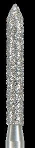 886-012F-FG Бор алмазный NTI, форма цилиндр, остроконечный, мелкое зерно
