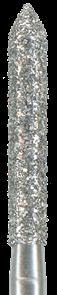 886-014F-FG Бор алмазный NTI, форма цилиндр, остроконечный, мелкое зерно