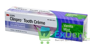 Clinpro Tooth Creme - зубная паста (крем) для профилактики кариеса ванильная мята, туба (113 г)