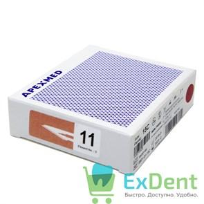 Лезвие хирургическое стерильное №11 Apexmed (100шт)