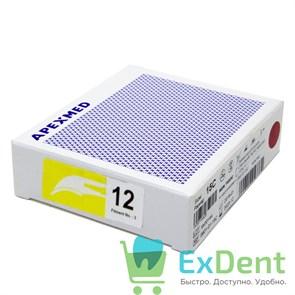 Лезвие хирургическое стерильное №12 Apexmed (100шт)
