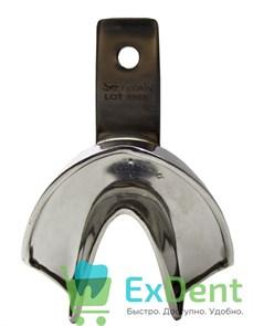 Ложка для слепков неперфорированная (XL) низ металлическая