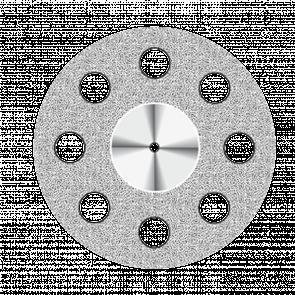 Диск алмазный Superflex (19 mm) NTI красный 8 отверстий двусторонний