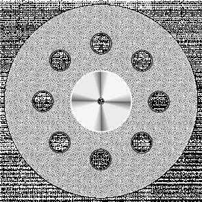 Диск алмазный Superflex (22 mm) NTI красный 8 отверстий двусторонний