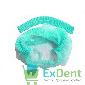 Шапочки - шарлотки медицинские, зеленая,  (100 шт.)