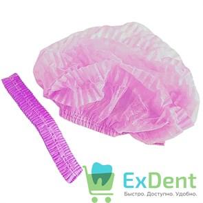 Шапочки - шарлотки медицинские, розовая,  (100 шт.)