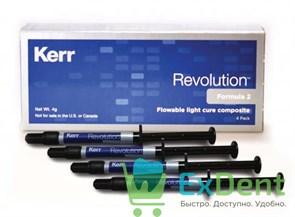 Revolution (Революшен) F2 набор (4 х 1 г: A2, B3, C3 и универс. опаковый) - светоотверждаемый текучи