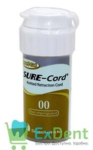 Нить ретракционная №00 SURE-CORD, без пропитки, из микрофибры (2,54 м)