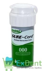 Нить ретракционная №000 SURE-CORD, без пропитки, из микрофибры (2,54 м)