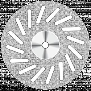 Диск алмазный Superflex (22 mm) NTI синий 16 косых прорезей, двусторонний