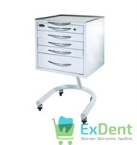 Стол стоматолога подкатной с 5 ящиками (Струм)