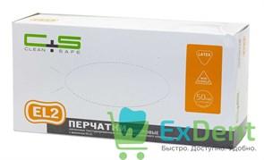 Перчатки Clean safe XL, EL2 латексные, неопудренные, нестерильные, смотровые (100 шт)