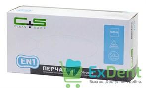 Перчатки Clean safe L, EN1 нитриловые, полностью текстурированные, неопудренные (100 шт)