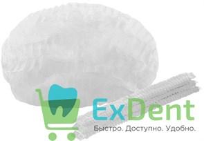 Шапочки - шарлотки медицинские, белые, любой производитель (50 шт.)