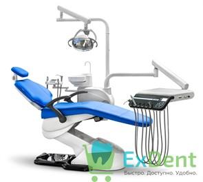 Стоматологическая установка WOSON WOD 550 в мягкой обивке, нижняя подача инструментов