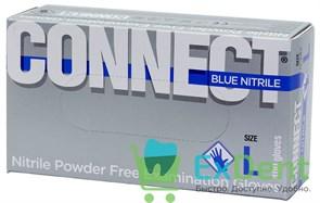 Перчатки Connect blue L, нитриловые, неопудренные, нестерильные, смотровые (100 шт)