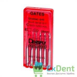 Gates №1-6, 28 мм, Dentsply, бор, Glidden,  расширение устья корневого канала (6 шт)
