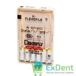 K-Flexofile №15, 21 Dentsply из нержавеющей стали, для препарирования канала (6 шт)