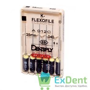 K-Flexofile №40, 25 Dentsply из нержавеющей стали, для препарирования канала (6 шт)