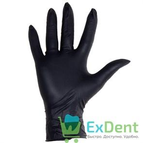 Перчатки Dispodent L, нитриловые черные,текстура на пальцах неопудренные, нестерильные (100 шт)