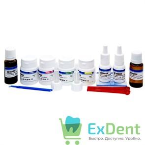 Цемион колор набор - цемент для реставрации молочных зубов (4 х 15 г + 13 мл х 2 + 15 мл + 15 мл)