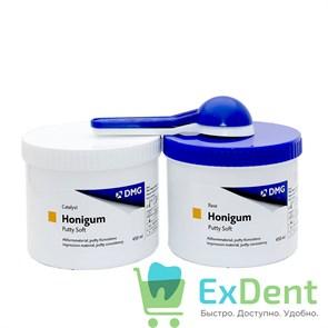 Honigum (Хонигум) Putty Soft - оттискный силиконовый материал, мягкий базовый слой (2 х 450 мл)