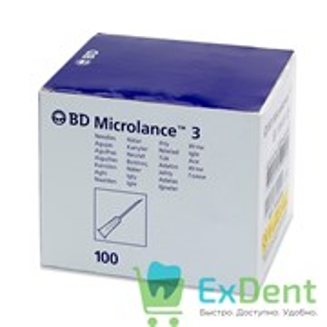 Иглы инъекционные для мезотерапии BD Microlance 3, 30G 0.3 мм х 13 мм (100 шт)
