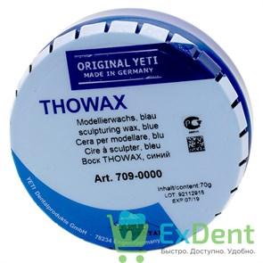Воск Thowax - моделировочный, голубой Yeti (70 г)