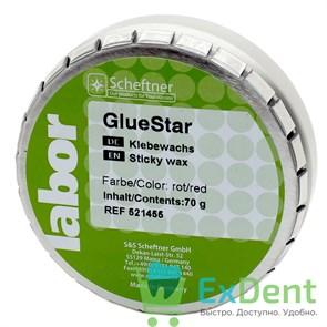 Воск GlueStar - липкий, красный Scheftner (70 г)