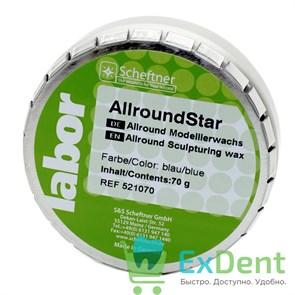 Воск AllroundStar для моделирования, синий Scheftner (70 г)