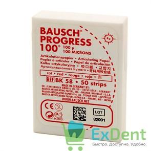 Артикуляционная бумага прямая, красная Bausch (100 мкм х 50 шт)