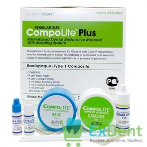 Compolite Plus (Комполат) - пломбировочный материал хим. отверждения (14 г х 2 + 3 мл х 2 + 7мл)