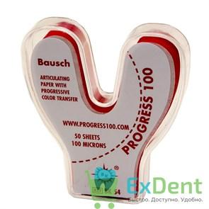 Артикуляционная бумага подковообразная, красная Bausch (100 мкм х 50 шт)