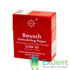 Артикуляционная бумага прямая BK02, красная Bausch (200 мкм х 300 шт)