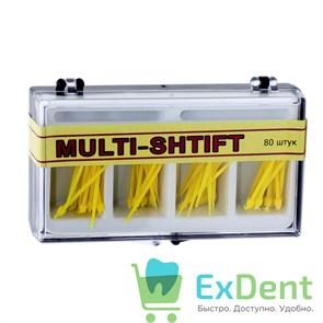 Штифты беззольные лабораторные желтые (80 шт), MULTI-SHTIFT