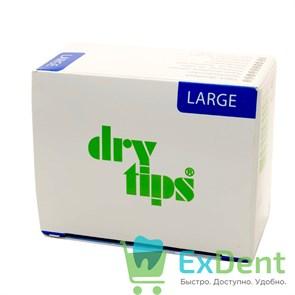 DryTips (Драйтипсы) L - прокладки для впитывания слюны, большие, синие (50 шт)