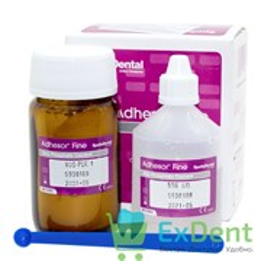 Adhesor (Адгезор) Fine - цинкфосфатный мелкозернистый цемент химического отверждения (80 г + 55 мл)