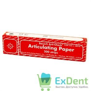 Артикуляционная бумага прямая, красная длинная Bausch (40 мкм х 200 шт)