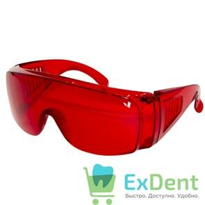 Очки защитные красные  Люцерна-Р  для работы с лампой